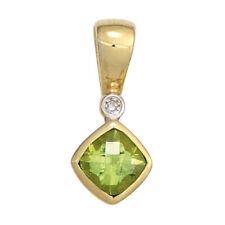 Echtschmuck-Halsketten & -Anhänger mit Diamant-Schönheits