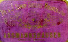 1880's Assmannshausen PH. & J. Simon-Sieglitz German Wine Bottle Label F98