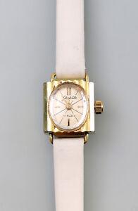 8320007 Vergoldete Damen-Armbanduhr Glashütte Retro 70er Jahre