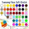 """Soft Stretch Heat Transfer Vinyl 15"""" x 1 Foot - Select Your Colors!"""