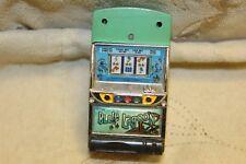 Silver Blue Lagoon Slot Machine Butane Torch Lighter Flip Top Side Handle Works