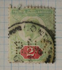 GB sc#130 used postage stamp sg#225 perfin BNZ Bank New Zealand