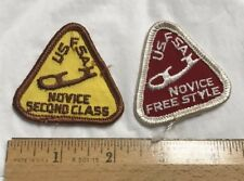 Lot of 2 Usfsa Novice Second Class Freestyle Ice Figure Skating Patches