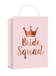***Rose Gold BRIDE SQUAD**Vintage**Hen Party bag**3 Pack**Gift**Favour***