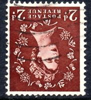 1954 Sg 518Wi 2d red-brown Tudor Watermark inverted Fine Used