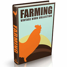 100 Rare Farming Books on DVD Dairy Farm Animal Feed Anatomy Crops Cattle Horses