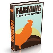 100 Rare Farming Books on DVD Dairy Farm Animal Feed Anatomy Crops Cattle Horses