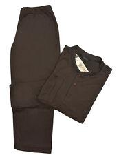 Grigio Perla Men's Solid Brown Cotton Knit Pajama Set M Sleepwear