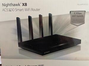 NETGEAR Nighthawk X8 R8500 1000 Mbps 7 Port 5.3Gbps Wireless Router