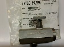 Metso Paper VAL0091342 Valve One-Way Restr V F25SSK NEW