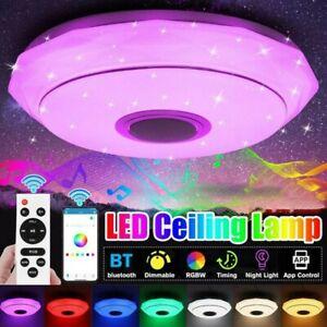 RGB LED Deckenlampe mit Bluetooth Musik Lautsprecher APP Fernbedienung 64W 🎵
