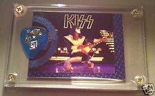 KISS Ace Frehley rarer foil chase card / tour guitar pick display - LAST ONE!!!