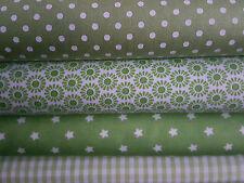 """(12,66€/m²) Stoffpaket """" grün """" 4 x 0,25m x 1,50 m Patchwork,Baumwolle,Stoffe"""
