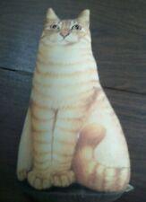 Lesley Anne Ivory 1997 Toy Works Orange / Yellow Tabby Cat Doorstop