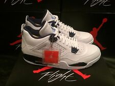 AIR JORDAN 4 IV RETRO LS LEGEND WHITE  BLUE  COLUMBIA Sz 11.5 W/ COPY OF RECEIPT