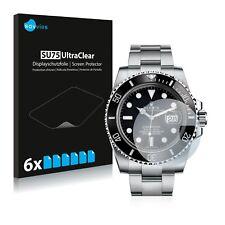 6x Pellicola Protettiva per Rolex Submariner (Date) Protezione Proteggi Schermo