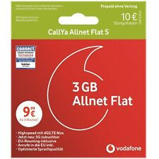 Vodafone CallYa Allnet Flat S Prepaid SIM Karte D2 inkl. 3 GB LTE + 10 EUR STGH