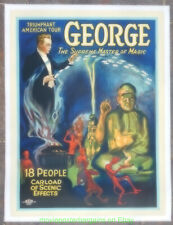 GROVER G. GEORGE MAGIC  POSTER 1920's Linenbacked 20x27 Inch American Tour Promo