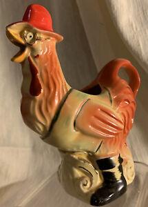 "VTG Regal China Old McDonald's Farm 6"" Rooster Pitcher Creamer #383"