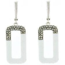 Unbranded Crystal Enamel Clip - On Costume Earrings