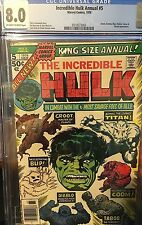 Incredible Hulk Annual 5 CGC 8.0 76 Guardians of the Galaxy 2nd Appearance Groot