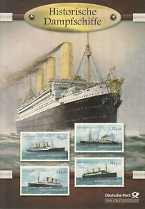 beautiful Folder 2010 - Historical Steamship Germany, Imperator, Aller, Columbus