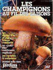 Les Champignons au fil des Saisons Vintage French Mushroom Magazine Jardins