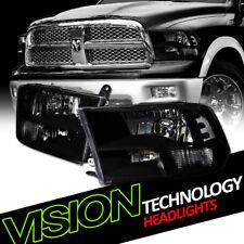 Quad Blk Clear Headlights Parking Signal Lamps Nb 09-17 Dodge Ram 1500/2500/3500