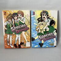 SPECIES DOMAIN Manga Paperback Books Volumes 2 and 3 by Shunsuke Noro - English