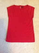 Talbots Red Capped Sleeve Sweater - small ladies