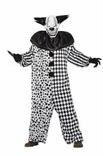 Pagliaccio Malefico Uomo Costume con Maschera Halloween Paura Vestito