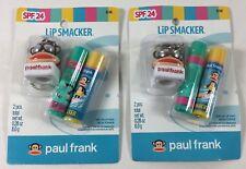 (2X) Lip Smacker SPF Lip Balm with Keychain Topper by Paul Frank * Exp. 1/13