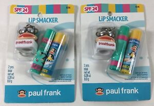 (2X) Lip Smacker SPF Lip Balm with Keychain Topper by Paul Frank * Exp. 1/13