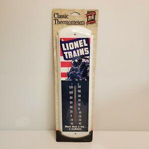 """Lionel Trains Classic Thermometers Desperate Enterprises 17"""" White TH748 HTF USA"""