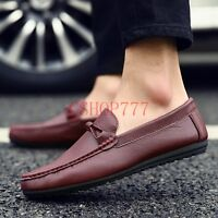 New Stylish Mens Slip On Moccasins Casual Loafers Suede Leather Drive Shoes Size