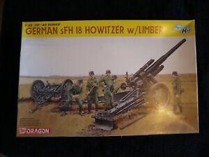Dragon 1/35 German sFH18 Howitzer used bags sealed item 6392