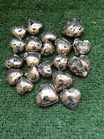 LOT OF 20 PYRITE  HEART  NATURAL FROM PERU