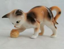Danbury Mint Cats Of Character Fine Bone China Calico Kitten With Nut