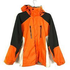 Burton AK GORE-TEX Mens S Snowboard Ski Jacket Active Lining System Orange Zip