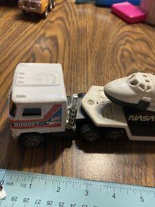 Vintage 1980 Buddy L NASA Space Shuttle Discovery w/ Mack Semi Hauler Truck !!!