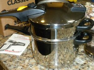 Magefesa Stainless Steep Stove Top Pressure Cooker Made in Spain 6 Qt and 3 Qt