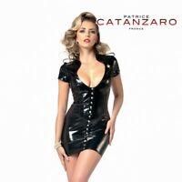 Patrice Catanzaro, Aka,  -50% sur Robe sexy glamour courte en vinyle noir
