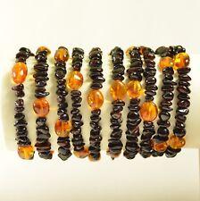 Lot 10 wholesale Baltic amber bracelet - cherry color 36 g c-2226