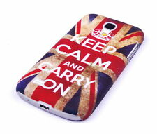 Schutzhülle f Samsung Galaxy S4 mini i9190 Tasche Case Cover keep calm carry on