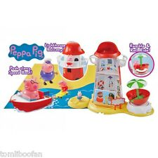 Peppa Pig Lighthouse Mega Set Inc G/Papá Pig, Daddy Pig, Peppa & George RRP £ 59.99