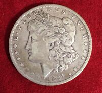 1891-O MORGAN SILVER ONE DOLLAR COIN