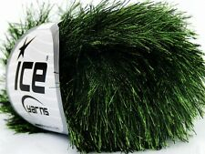 Evergreen Eyelash Yarn Ice Green & Black FunFur 36647 50g 65y