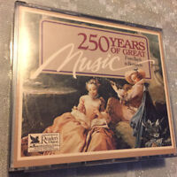 READERS DIGEST -  250 YEARS OF GREAT MUSIC - BACH TO BERNSTEIN -  MINT 4 CD SET