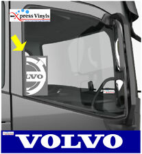 Volvo truck decals x 2. window graphic stickers ANY COLOUR