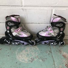 schwinn rollerblades girls size 4 to 1 adjustable great condition white and pink